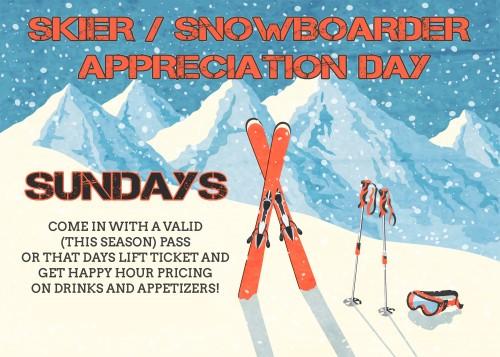 Ski winter mountain landscape retro invitation card frame vector illustration